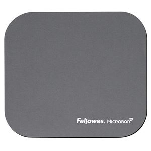 Picture of Mousepad Fellowes Microban Silver 5934005