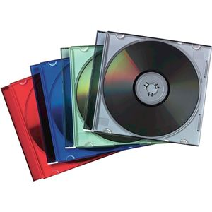 Picture of Θήκες CD/DVD Fellowes Slimline CD Jewel Cases Assorted 98317