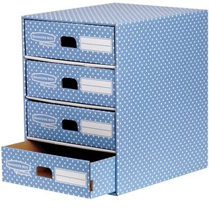 Picture of Κουτί αποθήκευσης Bankers Box®  4 Drawer Unit Blue/White 1pk  4482301