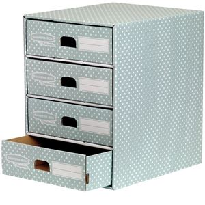 Picture of Κουτί αποθήκευσης Bankers Box®  4 Drawer Unit Green/White 1pk  4481701