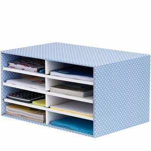 Picture of Κουτί αποθήκευσης Bankers Box® Desktop Sorter Blue/White 1pk 4482501