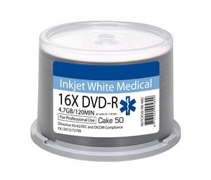 Picture of Οπτικό μέσο  Ritek DVD-R Inkjet White Medical 16x