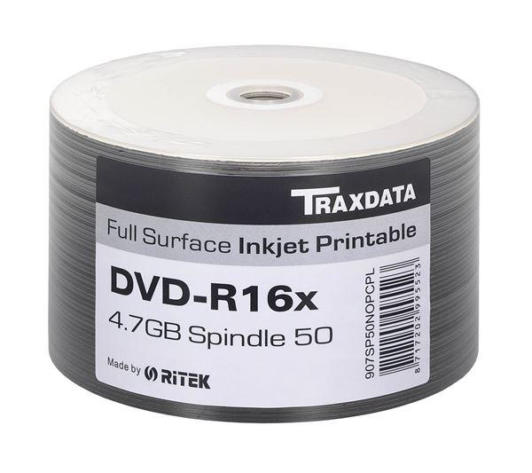 Picture of Οπτικό μέσο Ritek Traxdata DVD-R Inkjet White Printable 16x