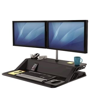 Picture of Fellowes Sit-Stand Workstation Lotus™ Dual Monitor Arm Kit 8042901