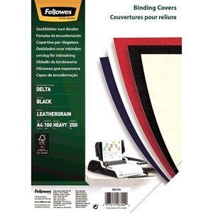Picture of Εξώφυλλο βιβλιοδεσίας Fellowes Leatherboard black 5370405