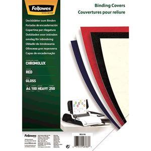 Picture of Εξώφυλλο βιβλιοδεσίας Fellowes Chromolux Paper red 5378303
