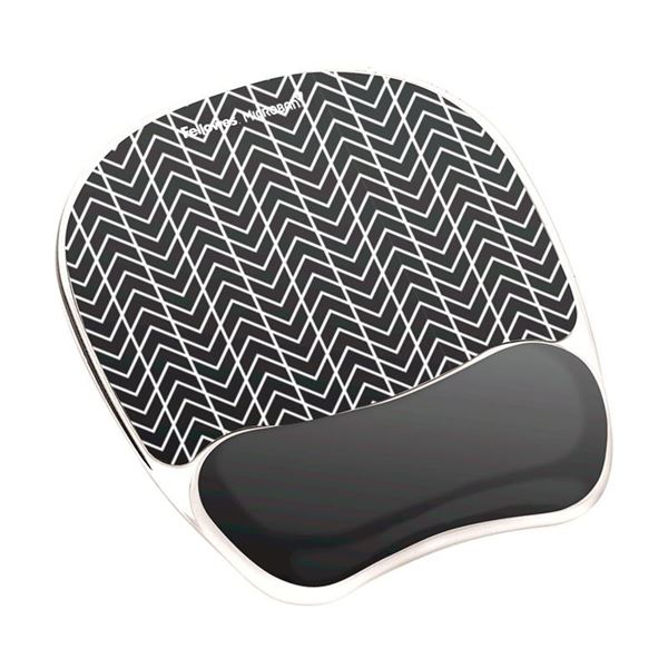 Picture of Στήριγμα καρπού Fellowes Photo Gel Mousepad Wrist Support - Chevron 9653401