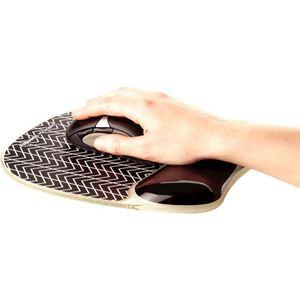 Picture of Στήριγμα καρπού Fellowes Photo Gel Mousepad Wrist Support - Chevron 9653401