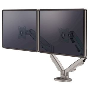 Picture of Βραχίονας οθόνης Fellowes Eppa™ Dual Monitor Arm - Silver 9683301