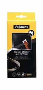 Picture of Καθαριστικό Fellowes 125ml Screen Cleaning Spray + 20 Wipes 99701