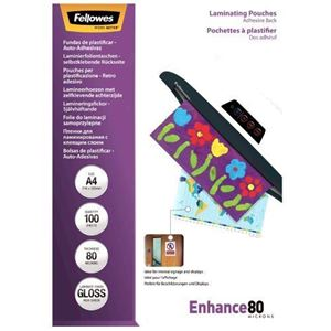 Picture of Δίφυλλο πλαστικοποίησης Fellowes Adhesive Back Glossy A4 80 mic 5302202