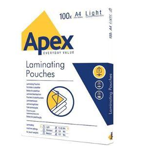 Picture of Δίφυλλο πλαστικοποίησης Apex/Fellowes Light A4 80mic 6003201