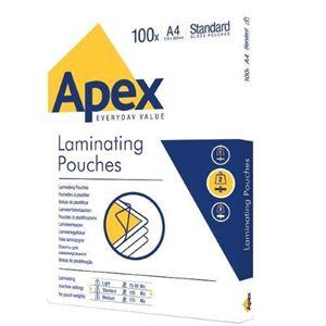 Picture of Δίφυλλο πλαστικοποίησης Apex/Fellowes Standard A4 100mic 6003301